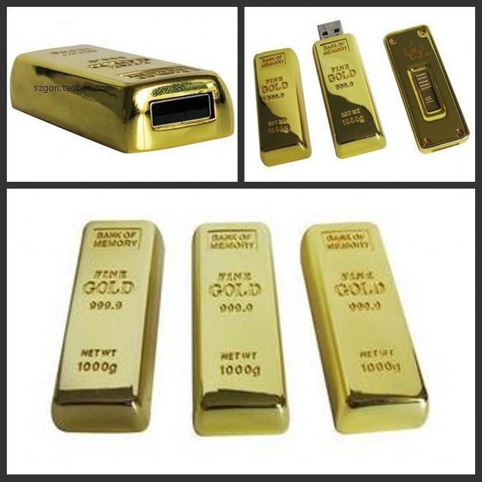 Gold Bar Man Gift Usb Flash Drive 3 0 Cle Usb Creativo Memory