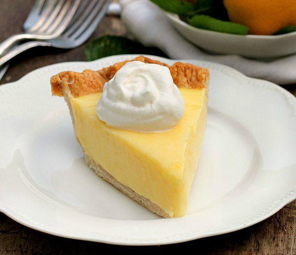 Sour Cream Lemon Pie With Images Lemon Sour Cream Pie Desserts Lemon Pie