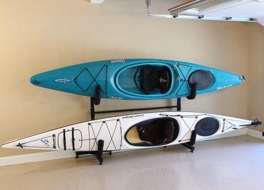 Organize Your Garage With This Freestanding Rack! #kayakstorage  #garagestorage #storeyourboard