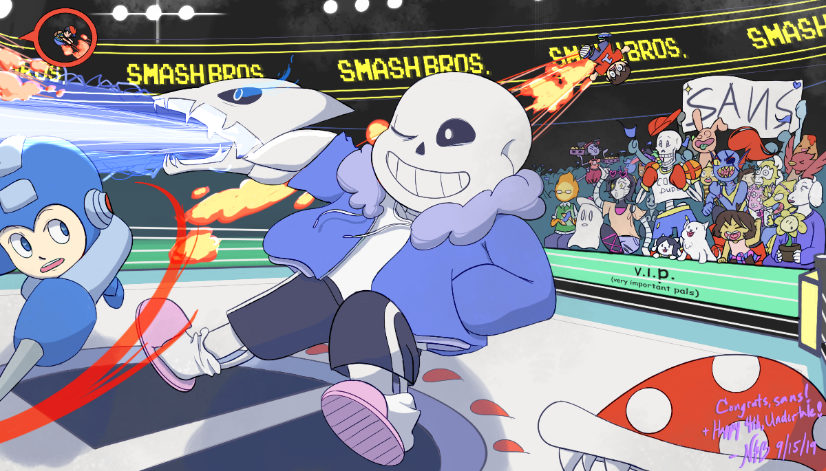 Sans In Smash Happy 4th Undertale By Nutsandbees On