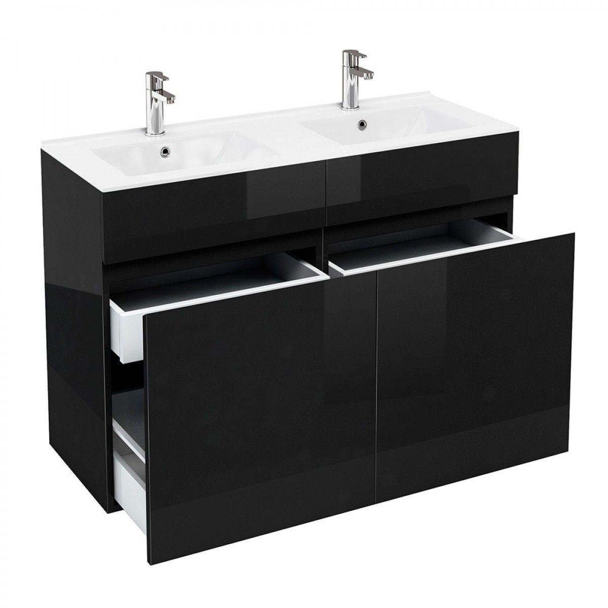 Contemporary Floor Standing Vanity Unit With Either A Quattrocast Or Ceramic Basin Beautiful Black Vanity Units Bathroom Furniture Vanity Bathroom Vanity Units