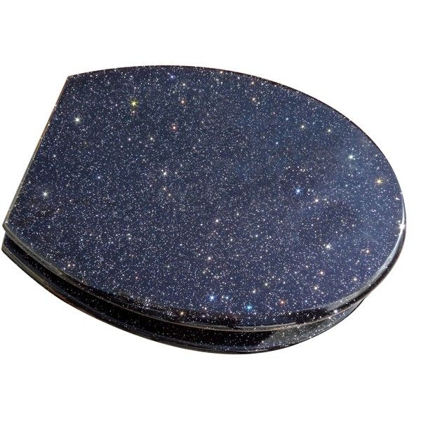 Pleasing Black Glitter Toilet Seat Home Temporary Digs Glitter Pdpeps Interior Chair Design Pdpepsorg