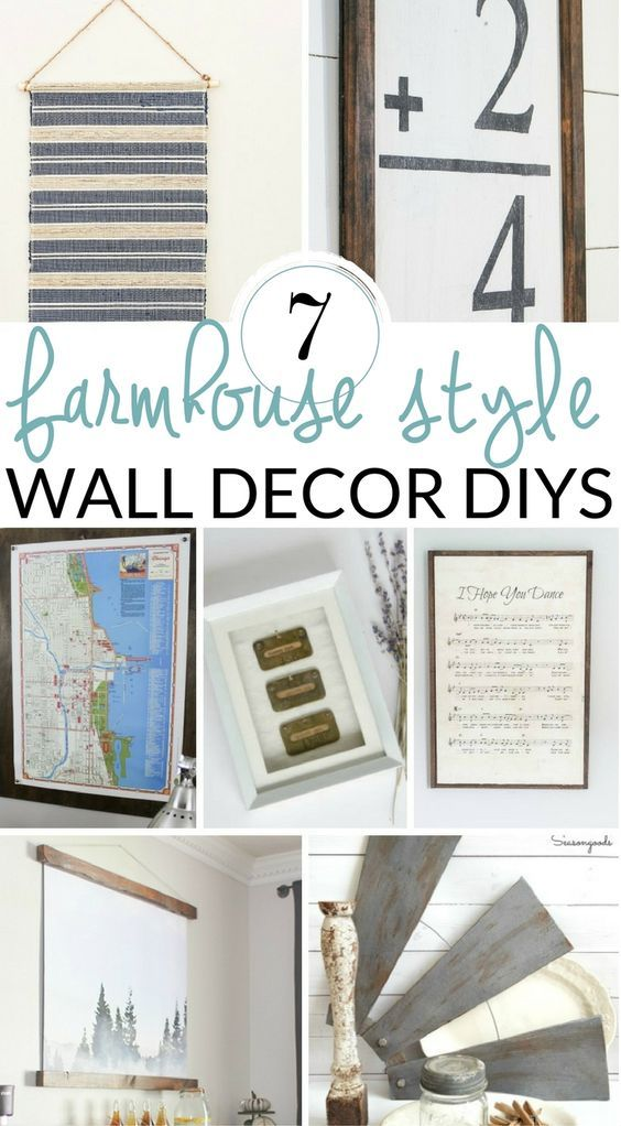 Fill Your Empty Walls With These Diy Farmhouse Wall Decor Ideas Try A Art Piece Create Gallery Or Style Shelves
