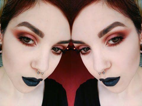 Grunge Makeup Red eyes | VENUS Palette | OCEANSOFBLOOD - YouTube