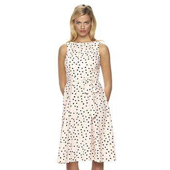Women's ELLE™ Dot Fit & Flare Dress