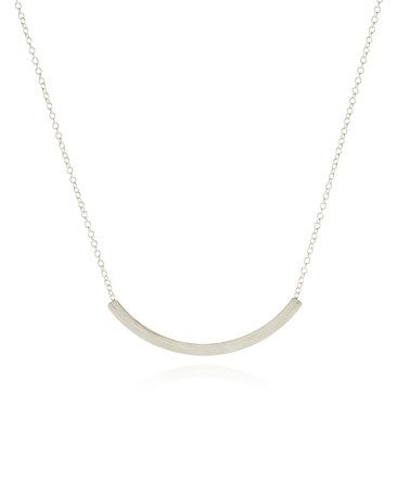Look at this #zulilyfind! Sterling Silver Arc Pendant Necklace by Fleur Envy #zulilyfinds