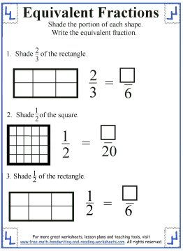 Shading Equivalent Fractions Worksheet   Math  Pinterest  Shading Equivalent Fractions Worksheet