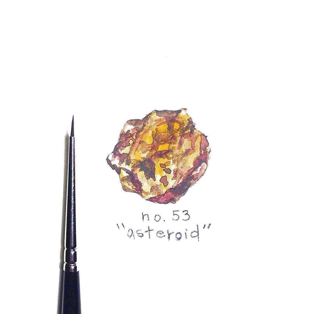 provocative-planet-pics-please.tumblr.com No. 53/366 for my #drawingaday project. #asteroid by trinayoungfieldart https://www.instagram.com/p/BCHu0ePuHQQ/