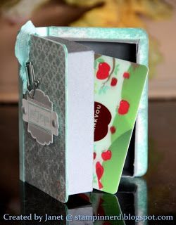 Stampin Nerd Book Lovers Gift Box Tutorial Book Lovers Gifts Diy Gift Box Gift Cards Money