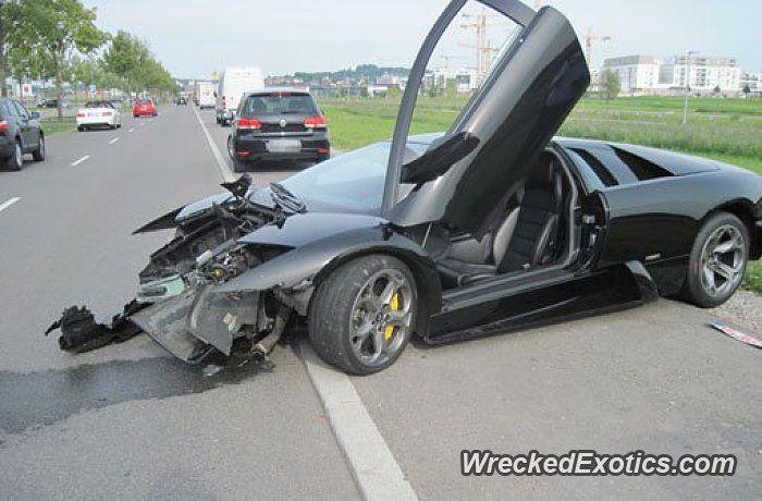 Lamborghini Murcielago Crashed In Boblingen Germany Wrecked