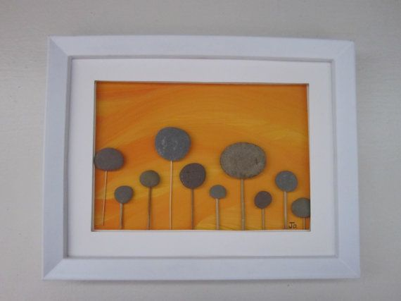 Field of Joy Unique Pebble Art Creation Framed by PebbleSimplicity, $39.00 Grand Opening of Shop! September Sales