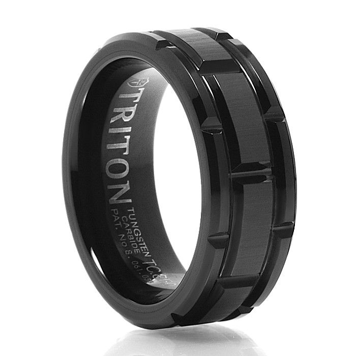 CUTLASS Black Tungsten Wedding Band