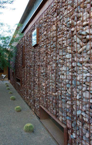 Private Residence Arquitectura Pinterest Piedra, Gaviones y