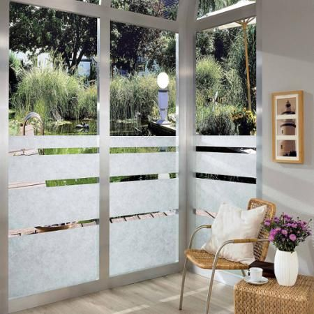 ricepaper peel and stick window film home decor and projects window film window privacy. Black Bedroom Furniture Sets. Home Design Ideas