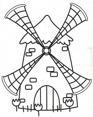 Recursos Y Actividades Para Educacion Infantil Molinos De Viento Molinos De Viento Bordado De Papel Don Quijote Dibujo