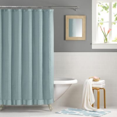 Real Simple Retreat 54 X 78 Shower Curtain In Azure