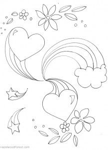 Free Coloring Pages Heart Coloring Pages Coloring Pages Cute