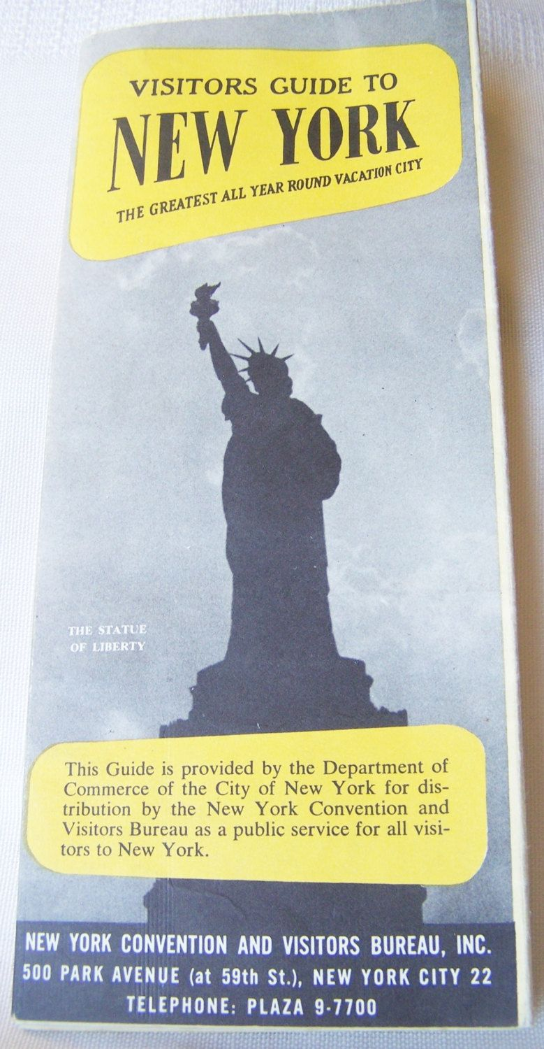 vintage travel brochure 1940s visitors guide to new york