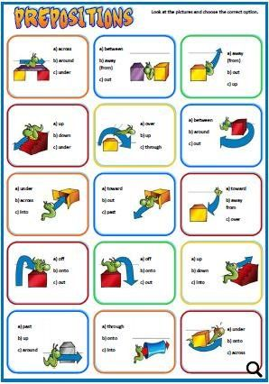 Prepositions Of Place And Movement Worksheet Prepodavanie