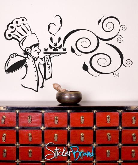 Vinyl Wall Decal Sticker Kitchen Chef Aroma Gfoster122 Vinyl Wall Decals Wall Decal Sticker Vinyl Wall