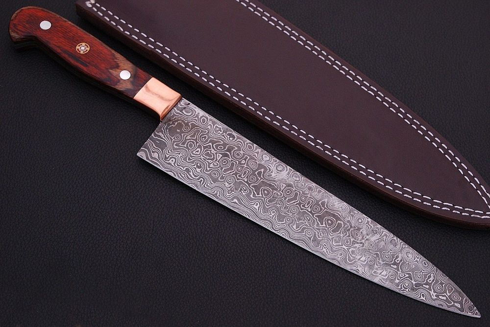 Damascus Knife Custom Handmade 12 Color Wood Handle Kitchen Chef Knife Knives Kitchen Chefs Chef Knife Kitchen Knives