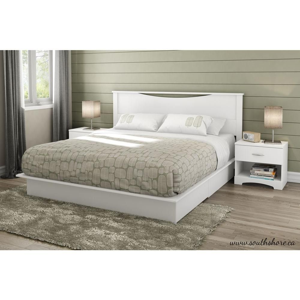 Majestic King Storage Bed, Pure White | Alcoba