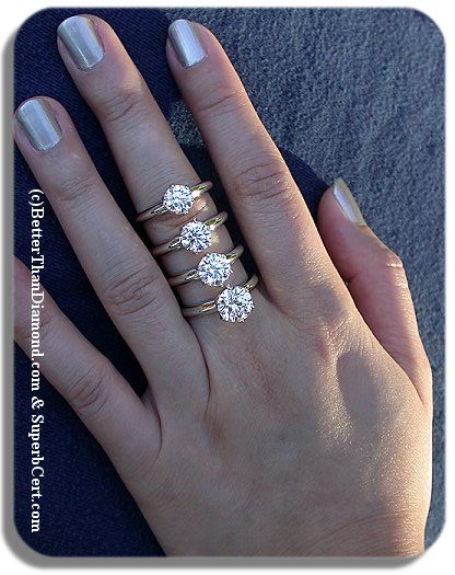 Diamond Size Comparison By Diamondseeker2006 Engagement Ring Inspiration Diamond Diamond Sizes