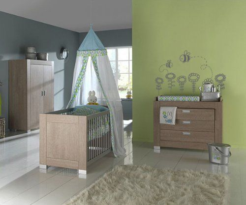Europe Baby Vigo Rift Oak Nursery Furniture Set