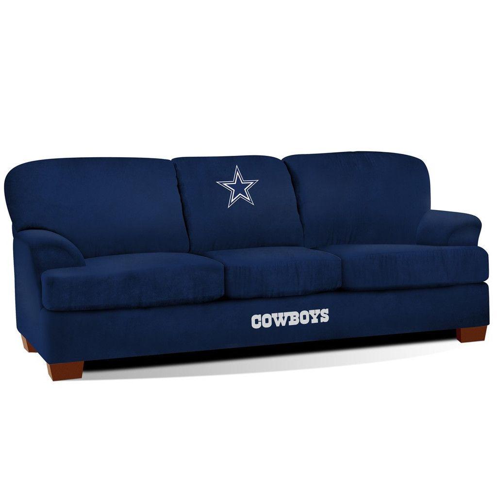 The Dallas Cowboys First Team Microfiber Sofa