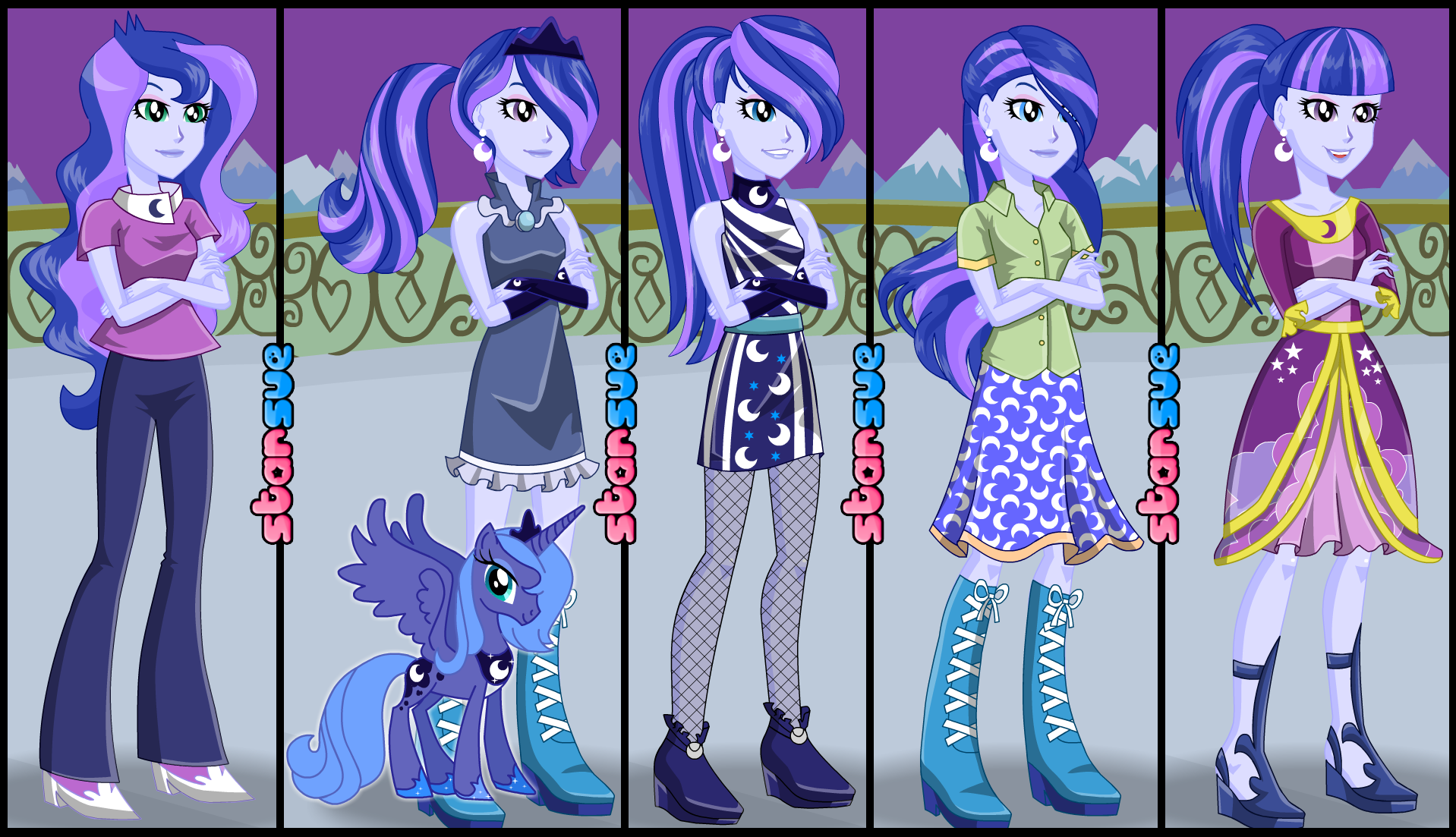 My Little Pony Equestria Girls Vice-Principal Luna Dress Up Game ...