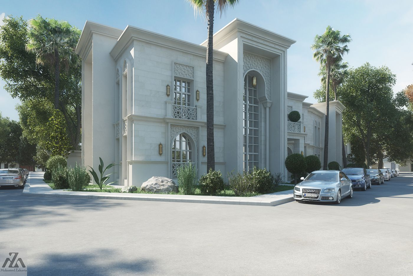 Classic Luxury House arabic villa on behance   classic villa   pinterest   villas
