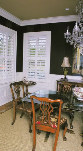 Love these white blinds- framed by gray walls | Great Blind Ideas ...