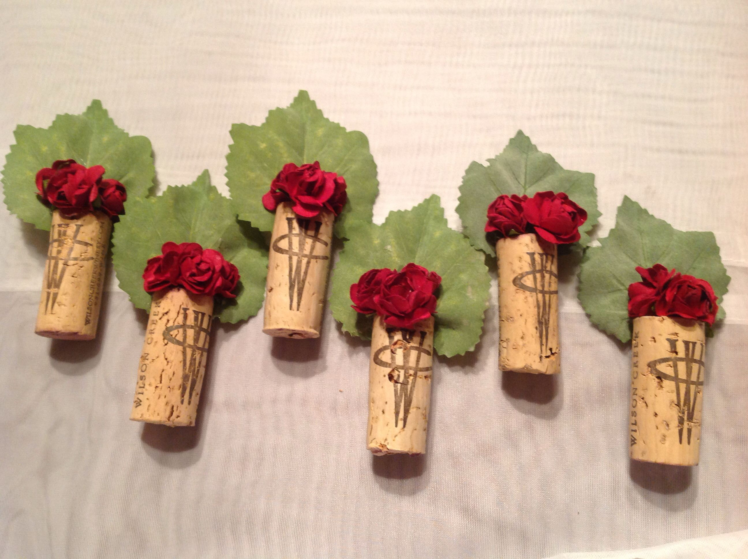 ~Wine Corks Corsage Boutonnieres For A Wine Themed Wedding
