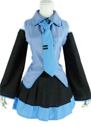 Hatsune-Miku-Vocaloid-Anime-Vestido-Con-Lazo-Disfraz-De-Halloween-Fiesta-De-Disfraces