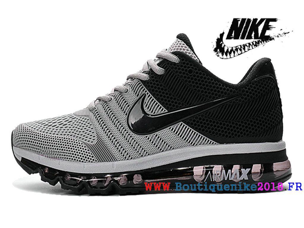 36ba37503f1a3 Nike Air Max 2017 Vintage Bonne Ligne de production Homme Noir   gris blanc- Nike