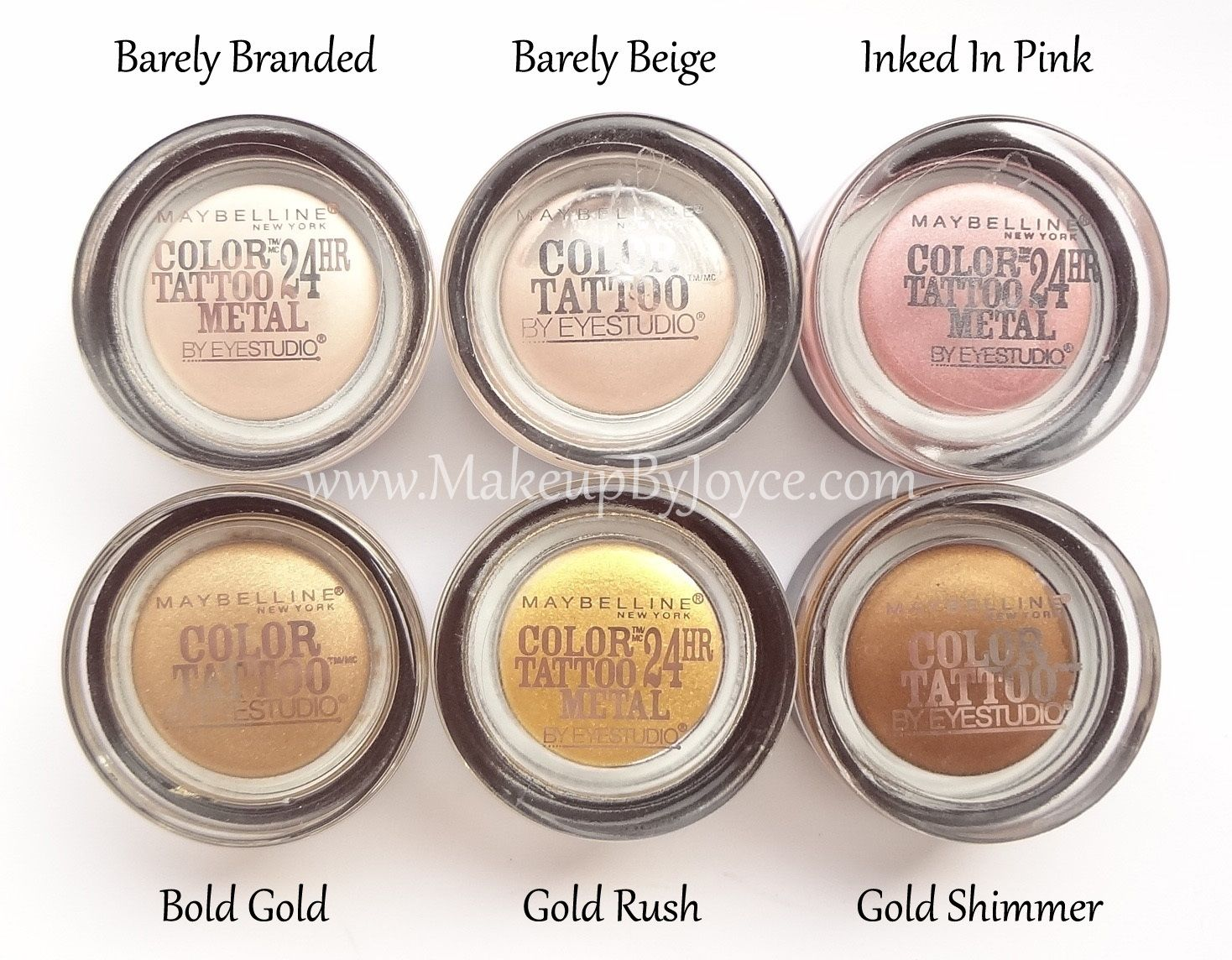 Maybelline Barely Branded Barely Beige Inked In Pink Gold Rush Jpg 1468 1144 Maybelline Color Tattoo Gel Eyeshadow Color Tattoo Eyeshadow