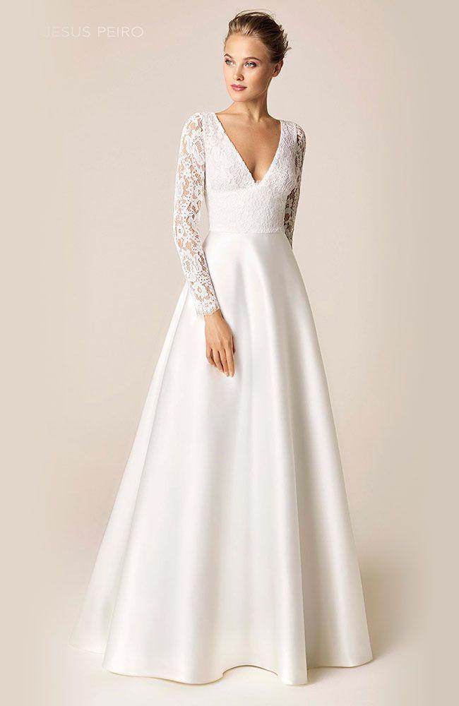 Jesus Peiro 954 Wedding Dress Long Sleeve Wedding Dresses Wedding Gowns With Sleeves