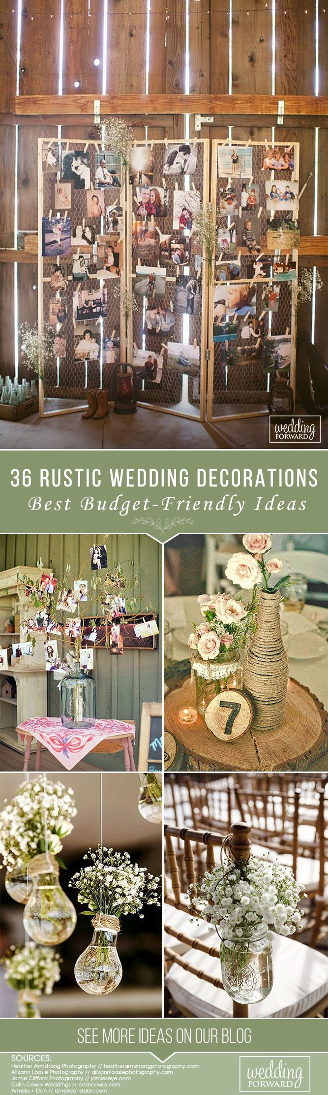 36 Ideas Of Budget Rustic Wedding Decorations #partybudgeting