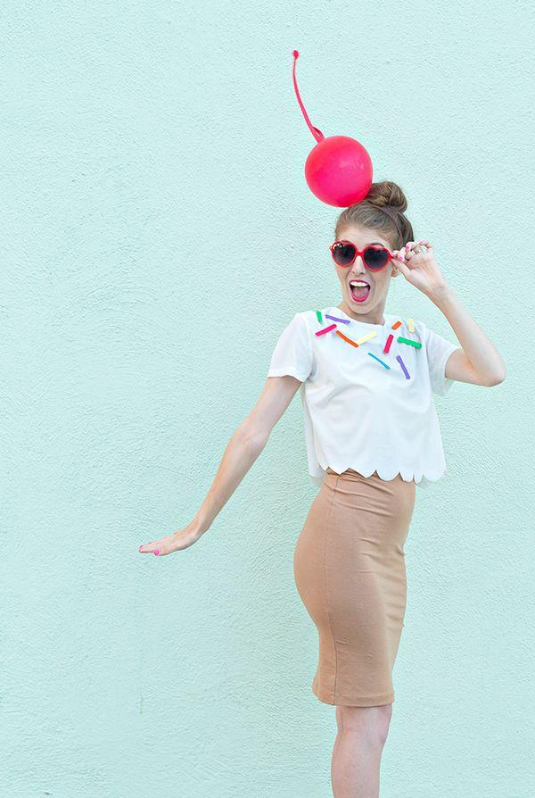 DIY Ice Cream Cone Halloween Costume Diy ice cream, Ice cream - food halloween costume ideas