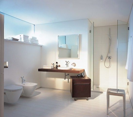 Modern Bathroom With Axor Hansgrohe Fixtures #modern #home Magnificent Bathroom Design Seattle Inspiration