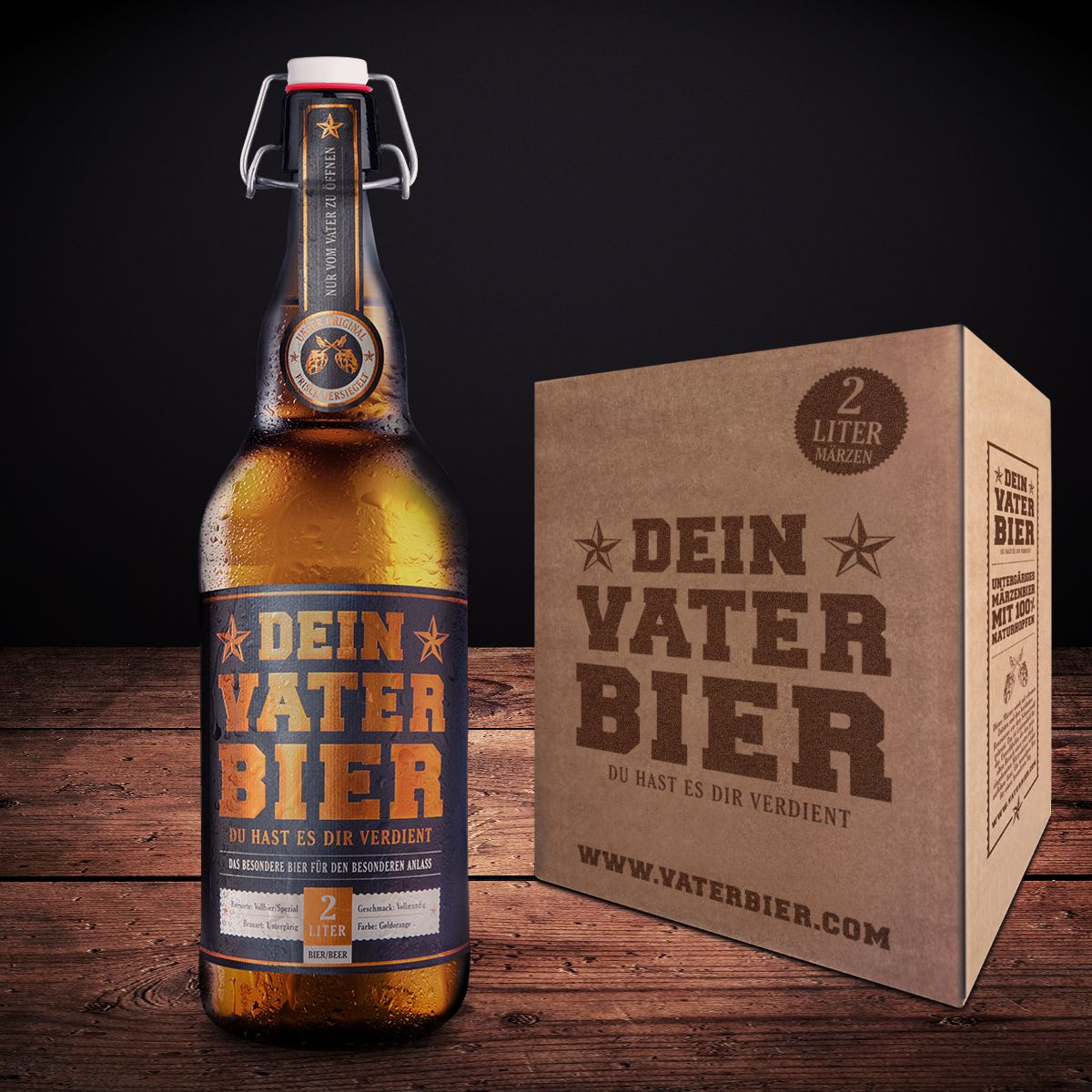 happy father's Day + father beer + vatertag + geschenk geburt +