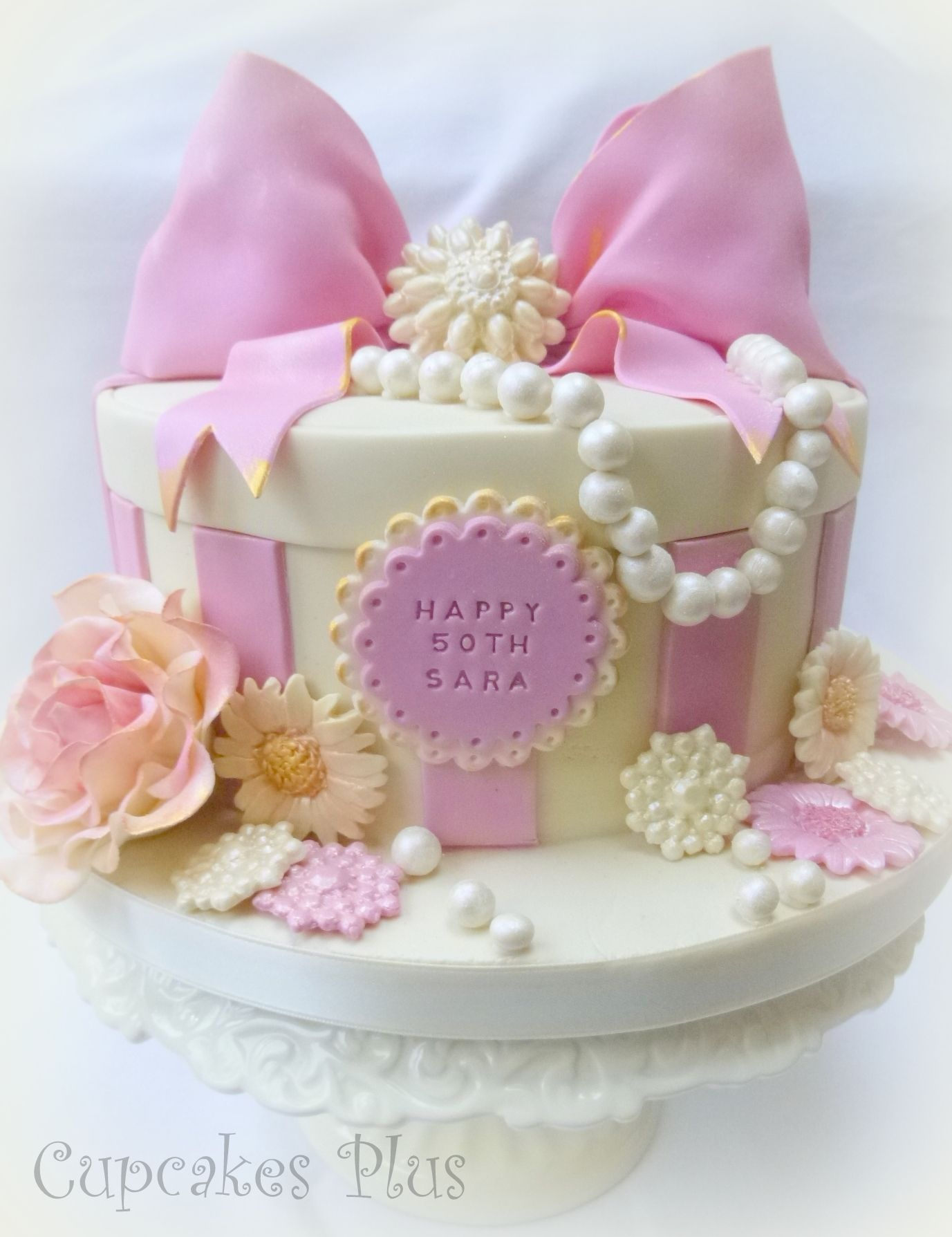 Pink And Girly 50th Birthday Cake X Cakes Cupcakes