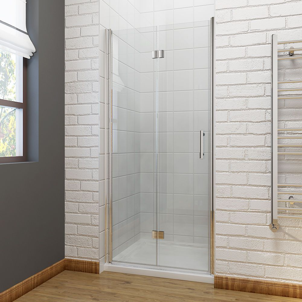 Details About Frameless Bifold Shower Door Enclosure Side Panel