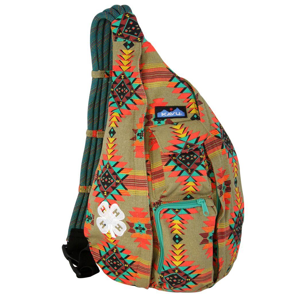 Ladies Red tone owl print rope bag day bag beach bag