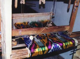 ikat on loom