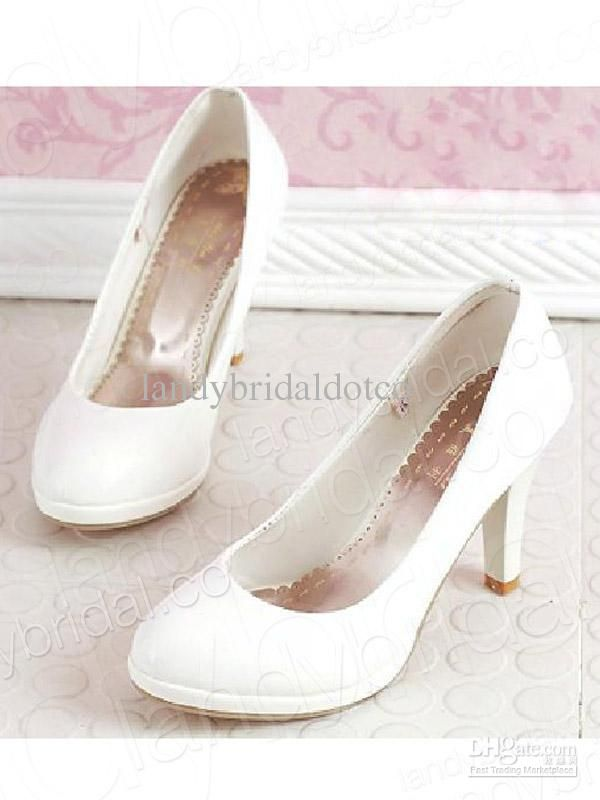 29d52f76412d Wholesale 2013 NEW Hot Sale PU Ivory Low Heel Closed Toe Wedding Shoes