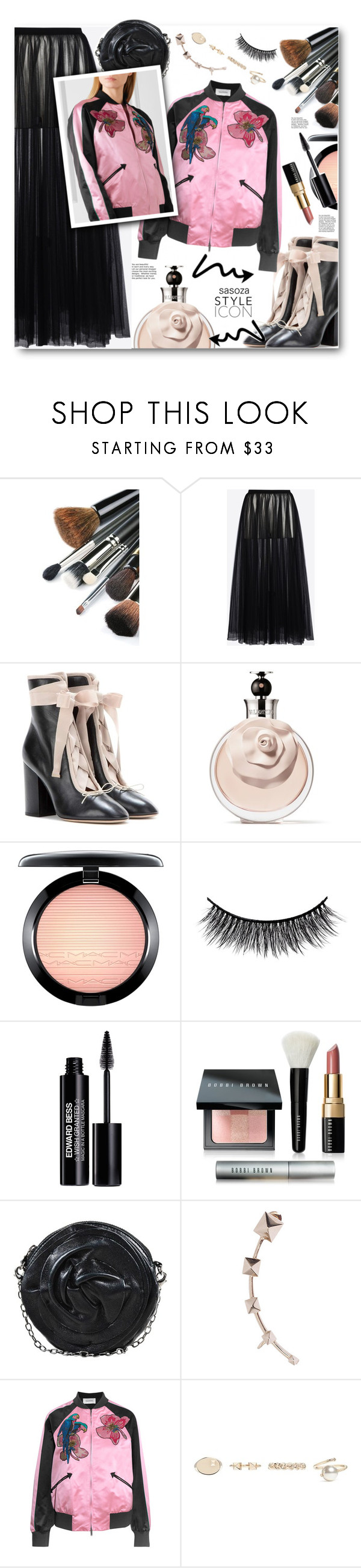 """Valentino outfit by sasoza"" by sasooza ❤ liked on Polyvore featuring Valentino, MAC Cosmetics, Battington, Edward Bess and Bobbi Brown Cosmetics"