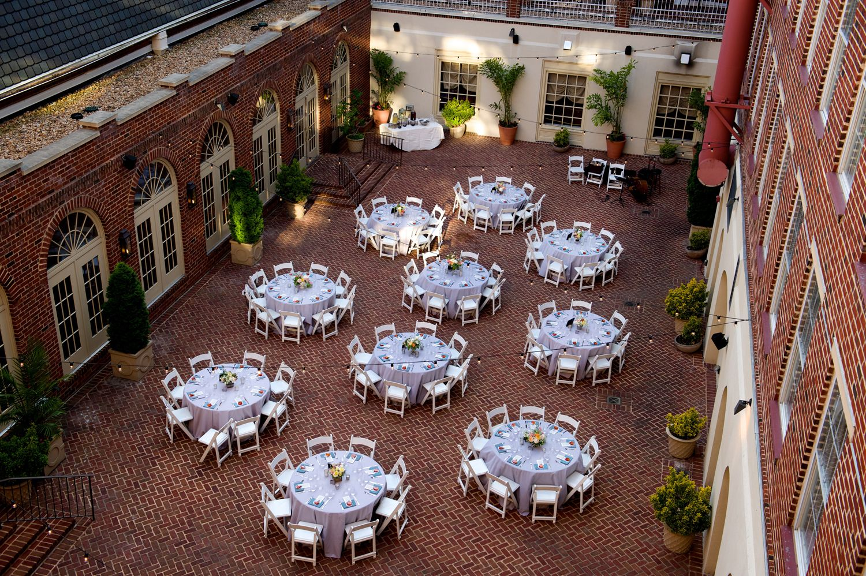 The Alexandrian hotel wedding Courtyard wedding, Wedding