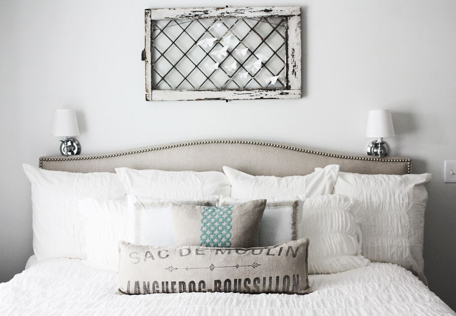 inspiration  master bedroom grey walls linen