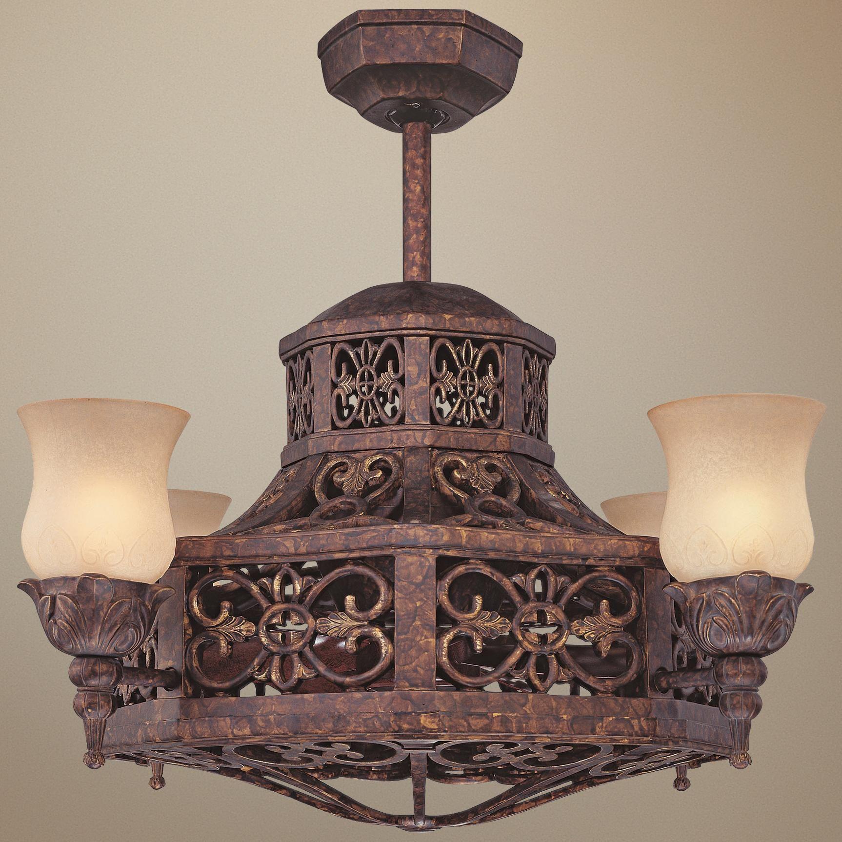 """28"""" Savoy House FanD lier Antique Copper Ceiling Fan"""